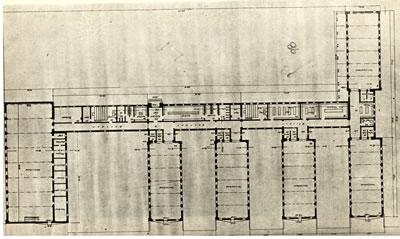 <p><strong>3b. </strong>Kayseri Erkek Sanat  Okulunun vaziyet planı, planı ve inşaatı<br /> Kaynak: Oran, 1952. </p>