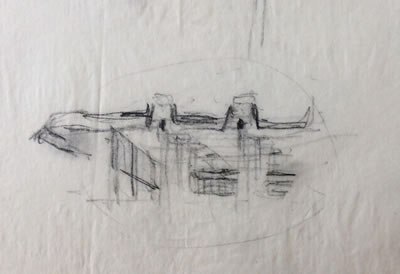 <p><strong>3c.</strong> Nezih Eldemin M.  Soygenişin öğrenci projesi Şişhanede otobüs terminali için tashih eskizi,  1980<br />   Kaynak:  S+ ARCHITECTURE Arşivi</p>