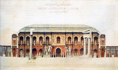 <p><strong>4.</strong> Müze işlevi görmek için kapatılacak avlunun projesi<br />   Kaynak:  1997, &ldquo;L École des Beaux-Arts de Paris&rdquo;, <strong>L Architecture  d Aujourd hui</strong>, sayı:310, ss.46-97.</p>