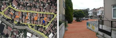 <p><strong>4.</strong> Beykoz Ortaçeşme Mahallesinde yarı  kamusal mekân niteliği öne çıkan konut dokusu</p>
