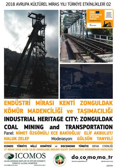 """<p><strong>4</strong><strong>.</strong> """"Endüstri Mirası Kenti: Zonguldak - Kömür Madenciliği ve  Taşımacılığı"""" Etkinlik Afişi <br />   Kaynak: URL8. </p>"""