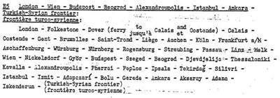 <p><strong>4.</strong> 16 Eylül 1950 yılında imzalanan  Cenevre Deklarasyonunun 1961 yılında revize edilen versiyonunda Londradan  Türkiye-Suriye sınırına uzanan E-5 rotası<br />Kaynak: www.unece.org