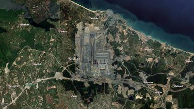 <p><strong>4.</strong> Eylül 2018 e ait hava fotoğrafı: İlk etabın açılması için çalışmalar  tamamlanmak üzere iken<br />   Kaynak: Google Earth</p>
