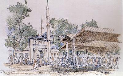 <p><strong>4.</strong> Eyüp Sultan Camisi Meydanı üst örtüsü<br />   Kaynak: Ayşe  Zengin </p>