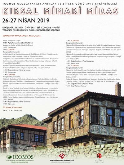 <p><strong>4. </strong>2019 yılı Uluslararası Anıtlar ve Sitler Günü Eskişehir Etkinliği  Posteri<br />Kaynak: http://www.icomos.org.tr/Dosyalar/ICOMOSTR_tr0796839001556522147.jpg
