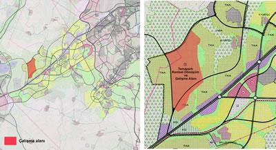 """<p><strong>4.</strong> 1/25.000 ölçekli """"2023 Başkent Ankara Nazım İmar Planı"""", 2023  Başkent Ankara Nazım İmar Planı Plan Açıklama Raporundan üretilmiştir.</p>"""