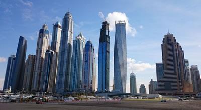 <p><strong>4.</strong>Dubai  Marina Bölgesindeki yüksek yapılar<strong></strong></p>