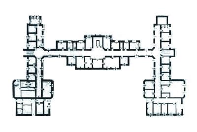 <p><strong>4.</strong> H şeklinde bir plana sahip olan 1928 tarihli  yapının zemin kat planı <br />   Kaynak: TC Kültür ve Turizm Bakanlığı Konya Kültür ve  Tabiat Varlıklarını Koruma Bölge Kurulu Arşivi</p>