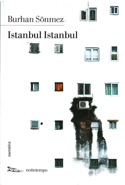 """<p><strong>4. </strong>İtalyan yayınevi Nottetemponun Burhan Sönmezin <em>İstanbul İstanbul</em> romanı için  tasarladığı, iç mekânın sınırsızlığını ifade eden kapak. Çimen Günay-Erkolun  """"Genişleyen Bir İç Mekân Olarak Hapishane: Burhan Sönmezin İstanbul İstanbulu"""" başlıklı sunumundan.</p>"""