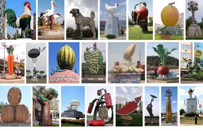 <p><strong>4. </strong><em>Türkiyede kent meydanlarını süsleyen devasa boyutlardaki  hayvan, sebze, meyve, kuruyemiş ve ürün heykelleri</em></p>