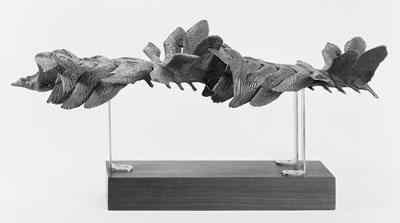 """<p><strong>4. </strong>Bir martının  """"kronofotoğrafik"""" uçuşunun Marey'e ait alçı döküm heykel çalışması<br /> Fotoğraf: RMN-Grand Palais  (Orsay Müzesi) / Hakları saklıdır</p>"""