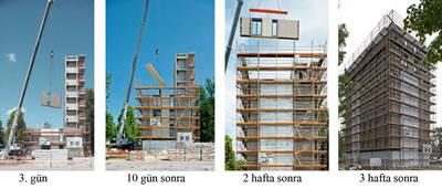 <p><strong> 4</strong>.  Holz8 (H8), Yapım Aşaması<br />Fotoğraf:  Arkitekt Bolaget, Ola Malm Arşivinden.</p>