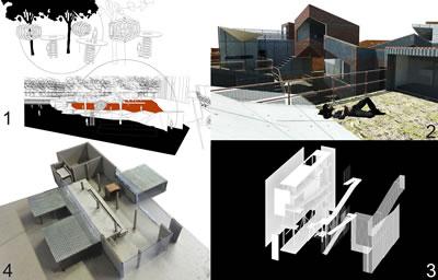 """<p><strong>4.</strong> İTÜ 2014-2015 İpek Yürekli-Gizem Özer  Architectural Design 5-6 Stüdyosundan Örnekler: 1-Hüma Şahin; Beyoğlu'nda ev-sizler için ağaç merkezli ev-habitat, barınak, aşevi, çamaşırhane. 2-Alp Hazan; Arnavutköy'de  lüks siteler ile gecekondular arasında yeni üniversite mezunları için sosyal  konut ve """"start-up"""" firmalar için işyeri. 3-Elif Taşkıran; Harbiye'de  trans-bireyler için hem görünür ve şeffaf olmayı, hem de mahremiyeti ve korunur  olmayı sağlayacak bir merkez. 4-Hazal Parlak; Piyalepaşa'da farklı hızların bir arada olduğu yaşlı ve çocuk evi.</p>"""