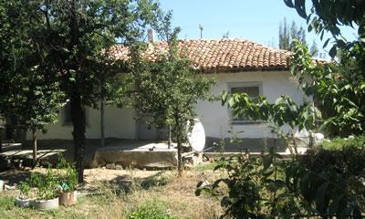 Bir dönüm bahçe içinde bir göçmen evi