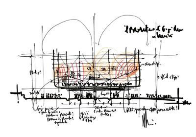 <p><strong>4.</strong> Prometheus Konser  Salonu ilk eskizler</p>