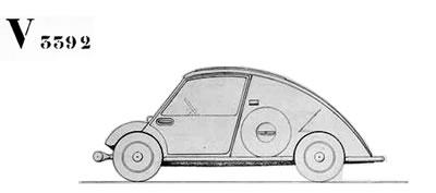 <p><strong>4.</strong>Corbusier&rsquo;nin  tasarladığı otomobil.<br />Kaynak: www.fondationlecorbusier.fr/ [Erişim: 22.06.2014]
