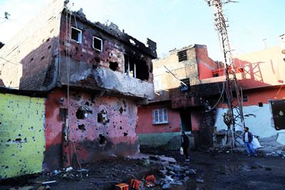 <p><strong>4. </strong>Tarihî Suriçinde  yıkım</p>