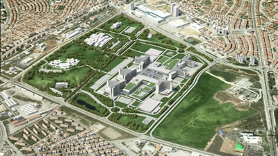<p><strong>4.</strong> Yapımı devam eden Etlik Şehir  Hastanesinin yerleşim planı</p>