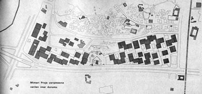 <p><strong>4. </strong>Mimari proje  yarışmasına verilen imar durumu <br />  Kaynak: <strong>İstanbul Manifaturacılar ve Kumaşçılar Çarşısı</strong>, 1968</p>