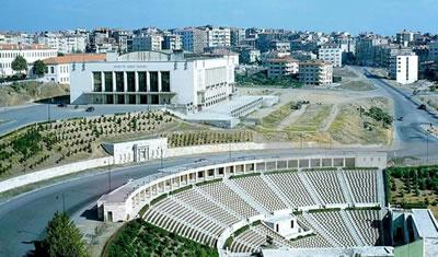 <p><strong>4. </strong>İstanbul  Spor ve Sergi Sarayı, Pietro Vietti-Violi, Şinasi Şahingiray ve Fazıl Aysu,  1948.</p>