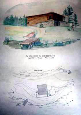 <p><strong>4a. </strong>Sadun Ersinin  öğrencilik döneminde yaptığı dağ evi projesinin çizimleri<br />Kaynak: Sadun Ersin arşivi<strong></strong></p>