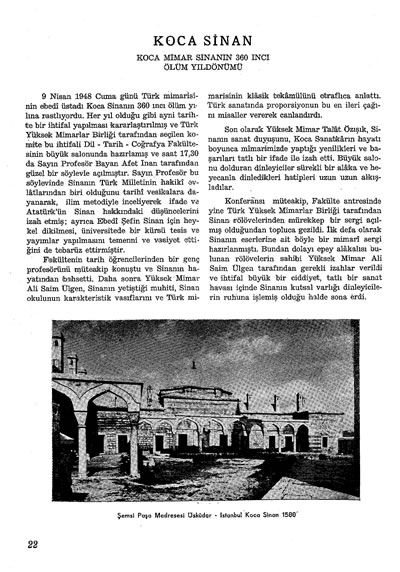 <p><strong>4a.  Mimarlık</strong>, 1948  (5.Yıl), sayı:2, ss.22-23.</p>