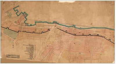 <p><strong>Resim 5. </strong>İAK (HRT-006990)  numaralı Demirkapı Sahili düzenleme haritası, 3 Mayıs 1866 (21 Nisan 1282)<strong></strong></p>