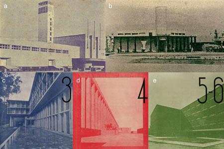 <p><strong>5.</strong> Cumhuriyet ideolojisi ve  mimarlığının anıtsallık, süreklilik, kalıcılık, güvenirlilik gibi özelliklerini  vurgulayan fotoğraflar, (a) <em>Arkitekt</em> 1935/4; (b) <em>Arkitekt </em>1936/10-11; (c) <em>Arkitekt</em> 1938/3; (d) <em>Arkitekt </em>1938/4; (e) <em>Arkitekt</em> 1938/5-6 </p>