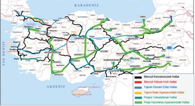 <p><strong>5. </strong>Türkiyedeki mevcut, yapımı devam eden ve planlanan hatlar<br /> Kaynak: TCDD 2019 Faaliyet Raporu </p>