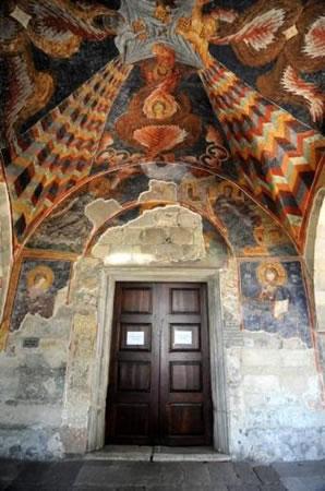 5. Trabzon Ayasofya Müzesi, tonozdaki bezemeler (Kaynak: Trabzon Vakfı)