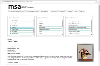 """<p><strong>5.</strong> MSA""""Mimari İhtilafları Haritalandırma"""" etkileşimli  internet sayfası ara yüzü<br />Kaynak: URL4</p>"""