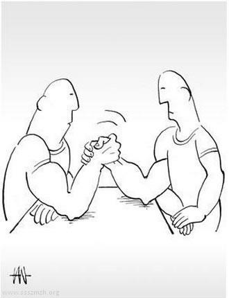<strong>5.</strong> Tan Oral&rsquo;ın çizgileriyle haksız rekabet.<br />  Kaynak:  www.ssszmzh.org/news/bilek-guresi/</p>
