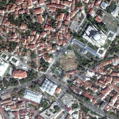 <p><strong>5. </strong>Selimiye Çevresi, Edirne<br />  Kaynak: Google Earth</p>