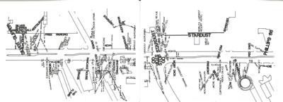 <p><strong>5.</strong> Las Vegas boyunca yoldan görünen her  yazılı sözcüğü gösteren &ldquo;Strip&rdquo; haritası, Las Vegas, 1993.<br />  Kaynak: Venturi, R; Brown,  D. S.; Izenour, S., <strong>Las Vegasın  Öğrettikleri</strong>, (çev.) Serpil Merzi Özaloğlu, Şevki Vanlı Yayıncılık, Ankara,  1994.</p>