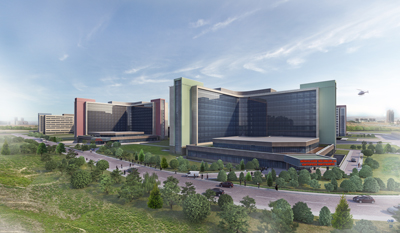 <p>Yapımı devam eden Bilkent Şehir  Hastanesinin yapıları</p>
