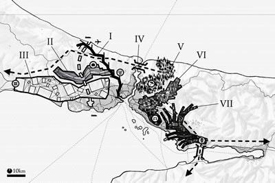 <p><strong>5. </strong>Genel İstanbul haritası<br />  Çizen: Sébastien Mazauric</p>
