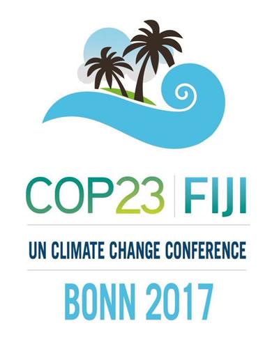 <p><strong>5.</strong> 6-17 Kasım 2017 tarihleri arasında Almanyanın Bonn  kentinde düzenlenen Fiji hükümetinin başkanlık yaptığı COP 23 ün afişi</p>