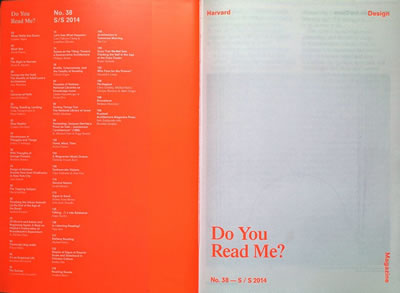 <p><strong>5. Harvard Design Magazine</strong>,  2014</p>
