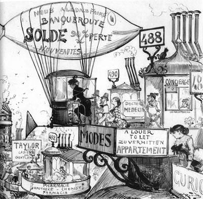 "5. ""Yirminci Yüzyıl"" illüstrasyonu, 1883, Albert Robida"