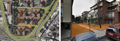 <p><strong>5.</strong> Küçükçekmece Halkalı Mahallesinde konut  girişlerinin yarı kamusal mekânlardan sağlandığı yapı adası örneği</p>