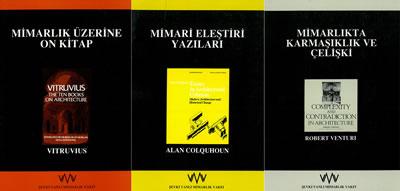 <p><strong>5. </strong>Şevki  Vanlı Mimarlık Vakfı Yayınları nın, sırasıyla, Suna Güven, Ali Cengizkan ve  Serpil Özaloğlu tarafından Türkçeye kazandırılan üç önemli eseri<strong></strong></p>