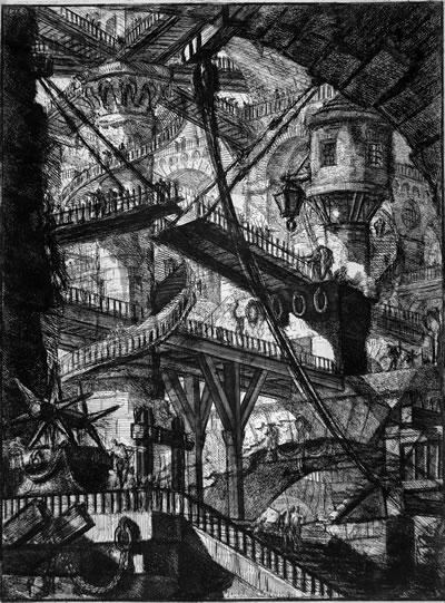 <p><strong>5. </strong>Carceri Plate  VII – The Drawbridge, Giovanni Battista Piranesi.<br />Kaynak: en.wikipedia.org/wiki/Giovanni_Battista_Piranesi#/media/File:Giovanni_Battista_Piranesi_-_Carceri._Folder_7_-_Google_Art_Project.jpg [Erişim: 19.11.2018]