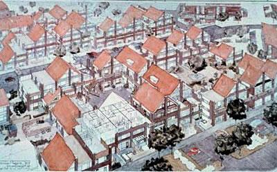 <p><strong>5a.</strong> Hollandanın ilk &ldquo;Açık Yapı&rdquo; örneği olan  Molenvliet Projesi, Fans van der Werf, 1974.</p>