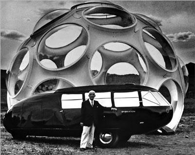 <p><strong>5b.</strong> Buckminster  Fuller, Dymaxion <br />  Kaynak: Meller, 1972. </p>