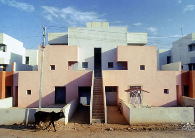 <p><strong>5b. </strong>Life Insurance  Corporation Housing, 1973, Ahmedabad, Hindistan</p>