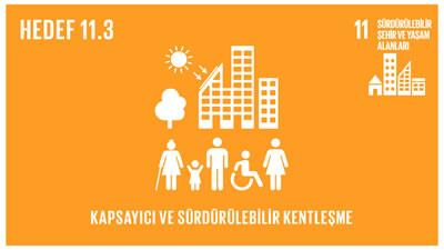 <p><strong>5b.</strong> Birleşmiş  Milletler küresel amaçlarında yer alan 11. maddenin konusu: Sürdürülebilir  Şehirler ve Topluluklar<br />Kaynak: https://www.tr.undp.org/content/turkey/tr/home/sustainable-development-goals/goal-11-sustainable-cities-and-communities.html