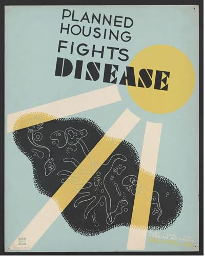 """<p><strong>6.</strong> """"Planlanlanmış konut  projeleri hastalıkları yok eder"""" başlıklı poster<strong></strong></p>"""