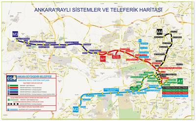 <p><strong>6.</strong> Ankara raylı sistemler ve teleferik haritası<br /> Kaynak: URL6</p>