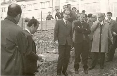 <p>17 Kasım 1967 Konur Sokak  Ankara'daki Mimarlar Odası Merkez Binası temel atma töreni</p>
