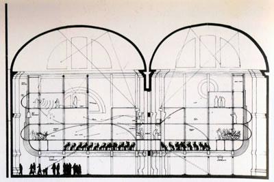 <p><strong>6.</strong> Prometheus Konser  Salonu kesit etüdü<br />  Kaynak: Buchanan, 2003.</p>